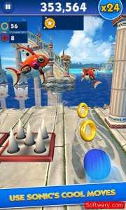 تحميل لعبة سونيك داش Sonic Dash للاندرويد و الايفون و الويندوز10 - www.softwery.com Image00003